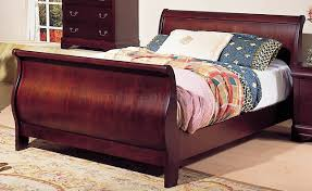 cherry sleigh bed martini cherry finish traditional sleigh bed w options