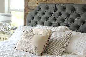 lovely how to make a fabric covered headboard with buttons 76 for