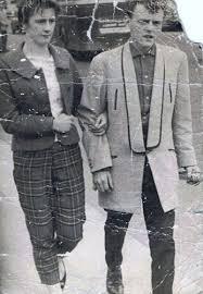Teddy Boy Drape Dublin Ted Mick O U0027beirne 1957 Wearing A Shawled Collared Light