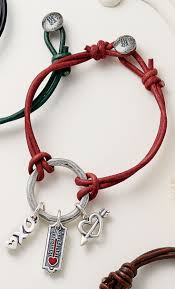 charm bracelet leather images Riata leather charm bracelet shown with the love kisses hugs jpg