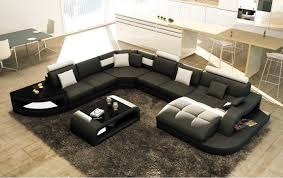 canapé d angle design pas cher canapé d angle design panoramique istanbul noir et blanc cdiscount