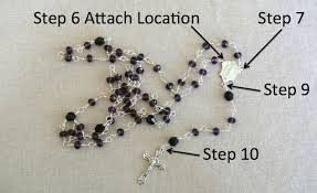 how to make a rosary diy rosary
