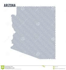 Arizona Map State by Vector Abstract Wave Map Of State Of Arizona Isolated On A White