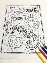 groovy coloring page valentines day coloring page