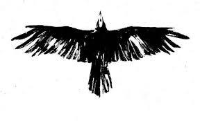 simple vulture tattoo classy black crow tattoo design make on paper tattooshunter com