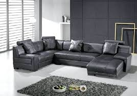 Black Modern Leather Sofa Sectional Leather Sofa Modern Sectional Leather Sofa For Living