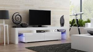 White Tv Cabinet With Doors Entertainment Center Wall Unit Tv Stands For Flat Screens