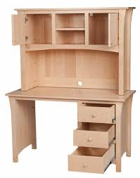 Oak Computer Desk With Hutch by Handcrafted Hutch Desks From Erik Organic