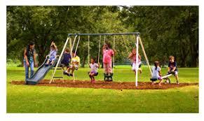 Flexible Flyer Backyard Swingin Fun Metal Swing Set Huge Discounted Swing Set Sale At Walmart Com Free In Store