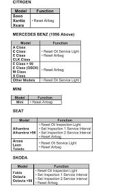 Reset Airbag Light 10 In 1 Service Light Airbag Reset