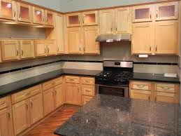 Maple Kitchen Furniture Appealing Maple Shaker Kitchen Cabinet Come With L Shape Brown