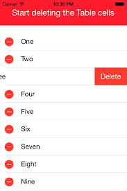 Delete All Rows From Table Ios Tutorial Delete Data And Table Cell From Table View