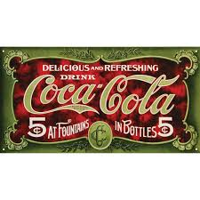 Coca Cola Six Flags Promotion Amazon Com Coca Cola Tin Sign 16 X 9in Home U0026 Kitchen