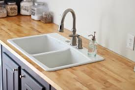 furniture kitchen sink faucet with waterlox countertop finishes
