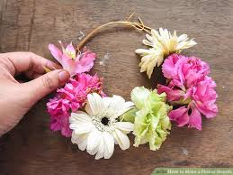 flower wreath 3 ways to make a flower wreath wikihow