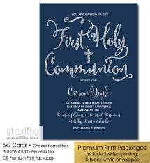 communion invitations communion invitation navy blue silver glitter