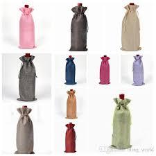 wine bottle gift bags linen drawstring wine bags dustproof wine bottle packaging