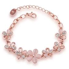 fashion jewelry chain necklace images Fashion jewellery rose gold crystal charm bracelet for girls and jpg