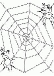 A Spider Couple On The Edge Of Spider Web Coloring Page Color Luna Web Coloring Pages