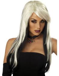 Halloween Costumes Storm Vampire Vixen Halloween Costume Wig Blonde Black Storm Fancy Dress
