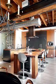 cuisine dans loft cuisine de caractère avec cellier dans un loft du vieux montréal