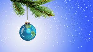 animated earth globe ornament rotating as is hangs from
