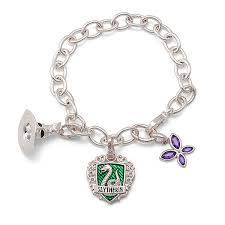 lumos slytherin charm bracelet thinkgeek