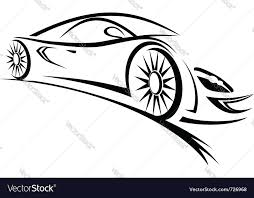 racing car sketch lines royalty free vector image