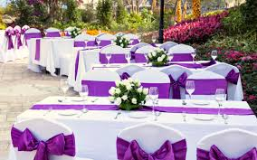 wedding decor ideas purple wedding decorations wedding corners