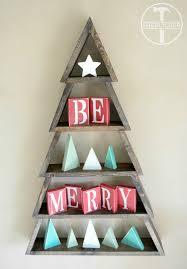 bricolaje de madera del árbol de navidad navidad pinterest