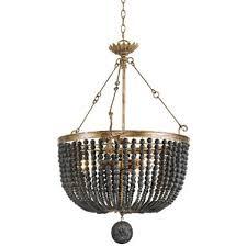 bead chandelier andrew design fabian wood bead chandelier candelabra inc