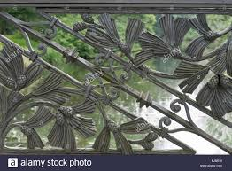 cast iron ornaments on a railing in berlin germany stock photo