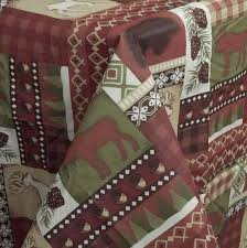 Moose Themed Home Decor by Amazon Com Vinyl Tablecloths Flannel Backed Moose Deer Bear