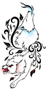 drawn howling wolf bad wolf pencil and in color drawn howling