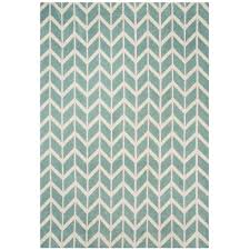 Duck Rugs Arklow Microfibre Duck Egg Blue Chevron Rugs Kukoon