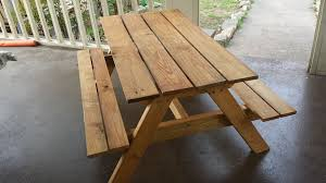 Kids Wooden Picnic Table Kids U0027 Picnic Table 8 Steps With Pictures