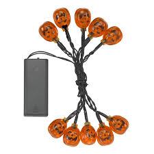 Halloween String Lights Halloween Pumpkin Battery String Fairy Lights By Garden Selections