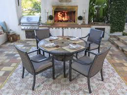 Slate Top Patio Table by Sunvilla Belize Aluminum 54 Round Stone Top Dining Table In Slate