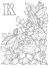 rose fairies coloring pages fairy rose