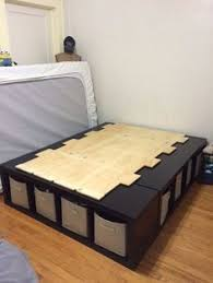 Shelf Bed Frame Build An Inexpensive Bed With Storage Using Bookcases Storage