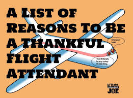 a list of reasons to be a thankful flight attendant flight