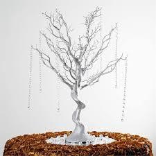 manzanita tree centerpiece 30 glittered manzanita silver centerpiece for wedding party event