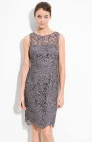 papell lace dress papell illusion bodice lace sheath dress for s