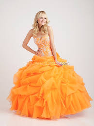 orange quinceanera dresses us 189 99 ntgowns style q340 orange appliques sweetheart bodice and
