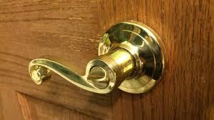 Open Locked Bedroom Door How To Unlock A Twist Lock Door Knob Youtube