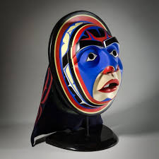 moon mask october moon mask by glenn tallio nuxalk artist w121105
