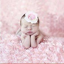 Newborn Photography Props Newborn Baby 100 Cotton Pink Rose Flower Backdrop Blanket Rug