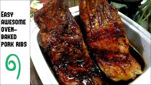 easy awesome oven baked pork ribs youtube