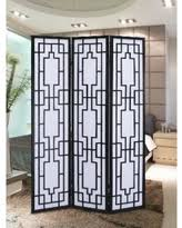 autumn special 3 panel screen room divider white