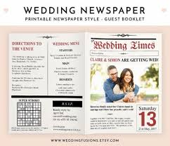 newspaper wedding program weddingfusions weddbook